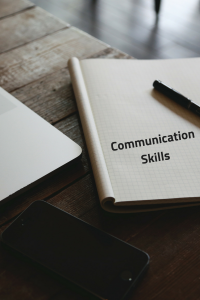 Communication skills on a notepad